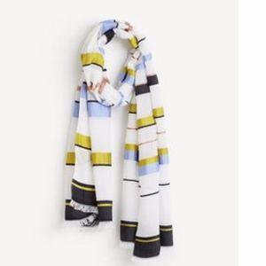 "Ann Taylor Luxe Stripe Scarf 30""x 72"" NWT"